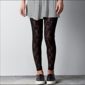 American Eagle Outfitters Black Lace Leggings